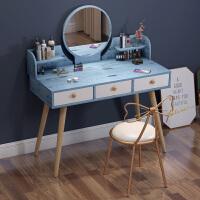 小型梳妆台现代简约卧室小户型收纳柜一体北欧台化妆桌子