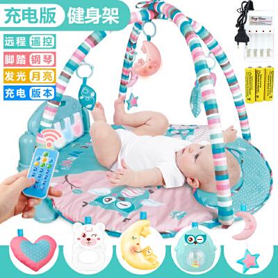 婴儿脚踏钢琴健身架0-1岁宝宝音乐游戏毯早教玩具