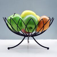 现代客厅水果零食干果收纳篮时尚创意水果篮家用桌面沥水果盘铁艺