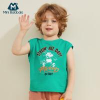 【119元任选2件】迷你巴拉巴拉男童宝宝无袖T恤2020夏装新款迪士尼米奇联名款背心