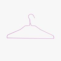 40只量贩装 当当优品 浸塑衣架 40只装 紫色