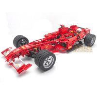 F1拼装积木车高难度组装汽车 兼容赛车模型男孩益智玩具 1_8 F1方程式赛车 1242粒