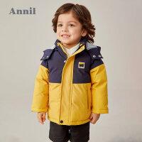 【2件4折 �A估券后�r:169】安奈�和��b男童中�L款棉衣2020冬新款