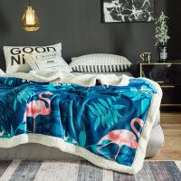 毛毯被子冬季加厚保暖珊瑚绒毯子垫床上法兰绒女床单人双层