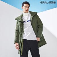 艾莱依2019冬季新款韩版潮男士中长款大口袋羽绒服外套601841099