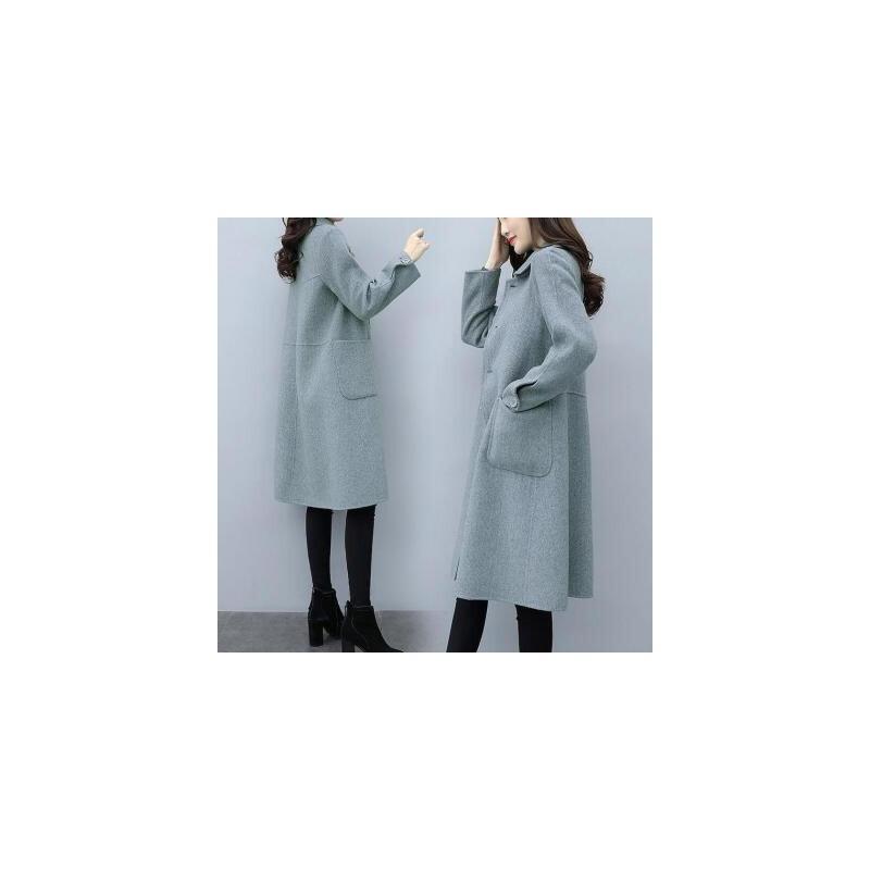 2019秋季新款毛呢外套女中长款时尚百搭风衣韩版修身显瘦呢子大衣