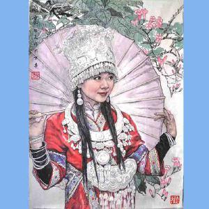 中国美协会员,中国国家机关美术协会会员,中国女画家协会会员刘夏(雨霁)26