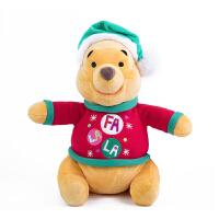 星际史迪奇小熊维尼圣诞毛绒玩具 圣诞维尼款 约34-37cm