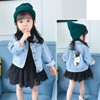 女童牛仔外套春装2019新款韩版洋气小女孩宝宝牛仔衣