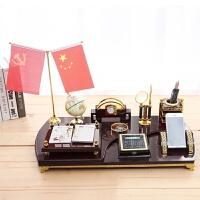 办公室桌面摆件装饰品创意老板文台笔筒摆设*礼品