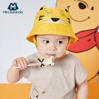 迷你巴拉巴拉儿童帽子2020夏季动物造型可爱超萌宝宝透气盆帽