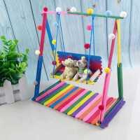 儿童diy手工制作材料科技小制作小发明 创意彩虹秋千自制实验模型