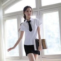 女性感情趣内衣服包臀短裙激情套装ol秘书制服透视三点式cospla