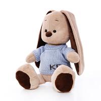 可爱女孩公主睡觉抱枕女生兔子毛绒玩具儿童玩偶垂耳兔公仔布娃娃