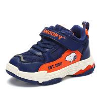 史努比童鞋新款男童二棉休闲鞋