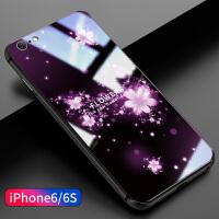 苹果6splus手机壳iPhone6新款超薄6plus玻璃6时尚5.5英寸6s潮女款6sp潮牌全包个