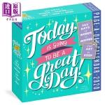 【中商原版】2020日历:今天是一个好日子 Page-A-Day Calendar 2020 益智游戏书 奇趣日历 插