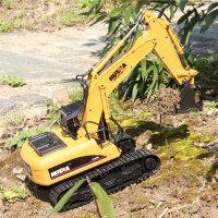 儿童男孩挖土机玩具遥控挖掘机玩具可充电动合金无线工程车