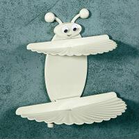 浴室免打孔双层吸盘肥皂盒创意壁挂肥皂架沥水香皂盒卫生间置物架
