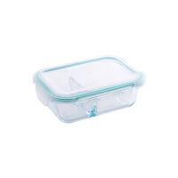 上班族分隔玻璃饭盒微波炉加厚便当盒冰箱长方形保鲜盒带盖玻璃碗