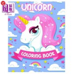 【中商海外直订】Unicorn: Coloring Book for Girls, Teens and Kids wi