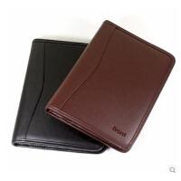 前通J06-A501 皮面拉链笔记本8寸内页盒装礼品经理夹