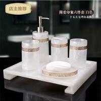 卫浴五件套装欧式高档创意浴室洗漱用品情侣漱口杯卫生间摆件套装SN2584