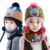 韩国KK树宝宝帽子围巾保暖套装男女儿童帽子围巾两件套2-4-8岁潮