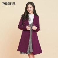2018新款韩版宽松茧型酒红色羊绒大衣女中长款羊毛呢子外套秋冬款