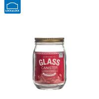 乐扣乐扣杂粮储物罐大号玻璃密封罐收纳罐子玻璃瓶子带盖厨房家用圆形1L