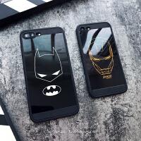 iphone7plus手机壳钢铁侠欧美潮男动漫蝙蝠侠6s硅胶防摔6全包软壳 苹果6/6s 钢铁侠