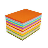 A4红纸 手工纸彩纸a4复印纸彩色打印纸80克A4彩色卡纸幼儿园折纸材料 BX