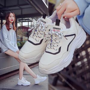 女式 新款小白鞋女春季布面百搭学生鞋厚底休闲鞋运动鞋