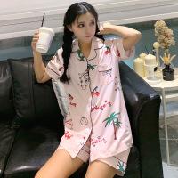 韩版睡衣女夏纯棉短袖套装睡裙甜美可爱柴犬卡通软妹子学生家居服