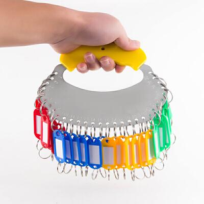 钥匙圈环钥匙板 可标记钥匙牌钥匙扣不锈钢收纳管理钥匙串