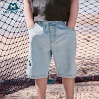 迷你巴拉巴拉男童牛仔裤子2020夏装新款儿童宝宝薄款舒适洋气中裤