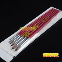 韩国进口华虹hwahong马毛水彩笔 771系尖头水粉笔 圆头油画笔套装