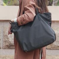 帆布包女�渭绨�牛津布尼��女包通勤手提包托特包大包包