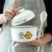 泡面碗陶瓷���w�盒�W生宿舍用方便面杯餐具碗筷套�b日式���大碗