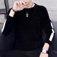 秋冬季新款毛衣男装圆领韩版潮流青年长袖线衣修身帅气男士针织衫