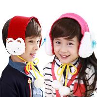 kk树儿童耳罩冬天可爱立体玩偶宝宝耳套保暖小孩耳罩儿童耳包耳暖