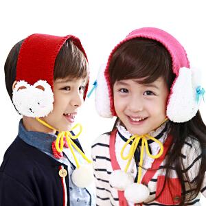 【1件9折 2件8折】kk树儿童耳罩冬天可爱立体玩偶宝宝耳套保暖小孩耳罩儿童耳包耳暖