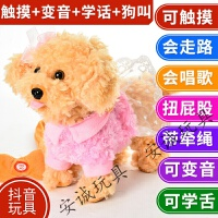 儿童会说话的玩具狗狗走路会唱歌毛绒仿真会叫儿童电动牵绳小狗男女孩送儿童生日礼物