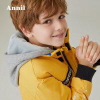 【2件45折:270】安奈儿童装男童棉衣冬装新款宝宝短款连帽保暖外套潮