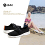 jm快乐玛丽夏季新款平底网格休闲套脚网状搭扣纯色运动女鞋子