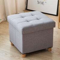 多功能可折叠布艺收纳凳玩具储物凳可坐凳子家用整理箱换鞋凳 38*38*35CM(可承受300斤)