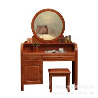 卧室家具中式实木化妆台卧室家具梳妆台 海棠色 1080*450*1550