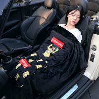 汽车抱枕被子两用车载抱枕被车用靠枕折叠毛毯车上空调被车内用品