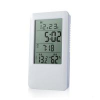 家用夜光室内温湿度计多功能电子温度计湿度计婴儿房闹钟背光 图片色 图片色