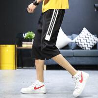 裤子男七分夏季新款韩版潮流宽松薄款运动休闲五分百搭男士短裤潮K703